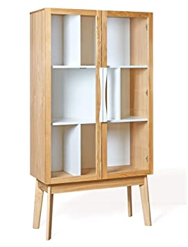 Woodman Meuble Bibliotheque Vitree Avon Display Amazon Fr