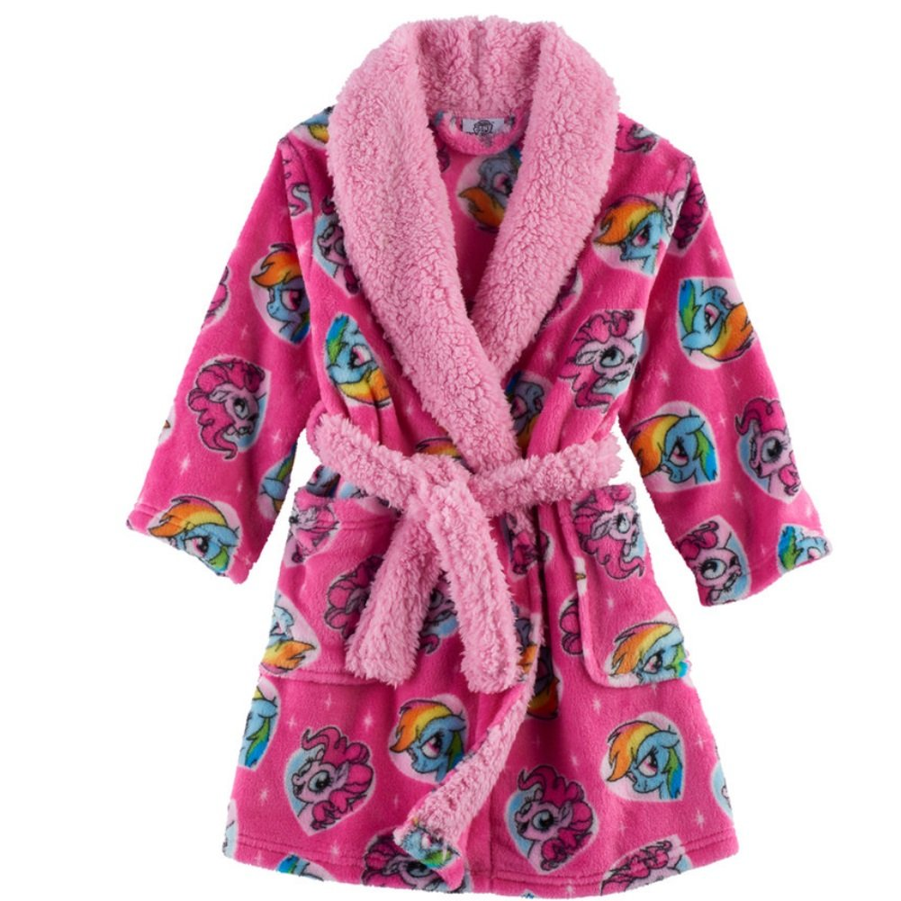 Hasbro My Little Pony Girls Dressing Gown Hooded Robe