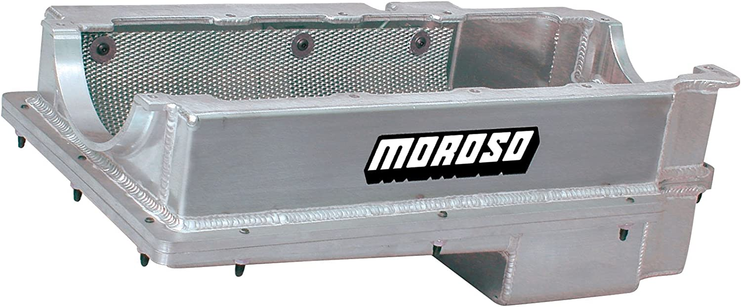 2 Piece Moroso 20376 Wet Sump Oil Pan for Chevy Big-Block Engine
