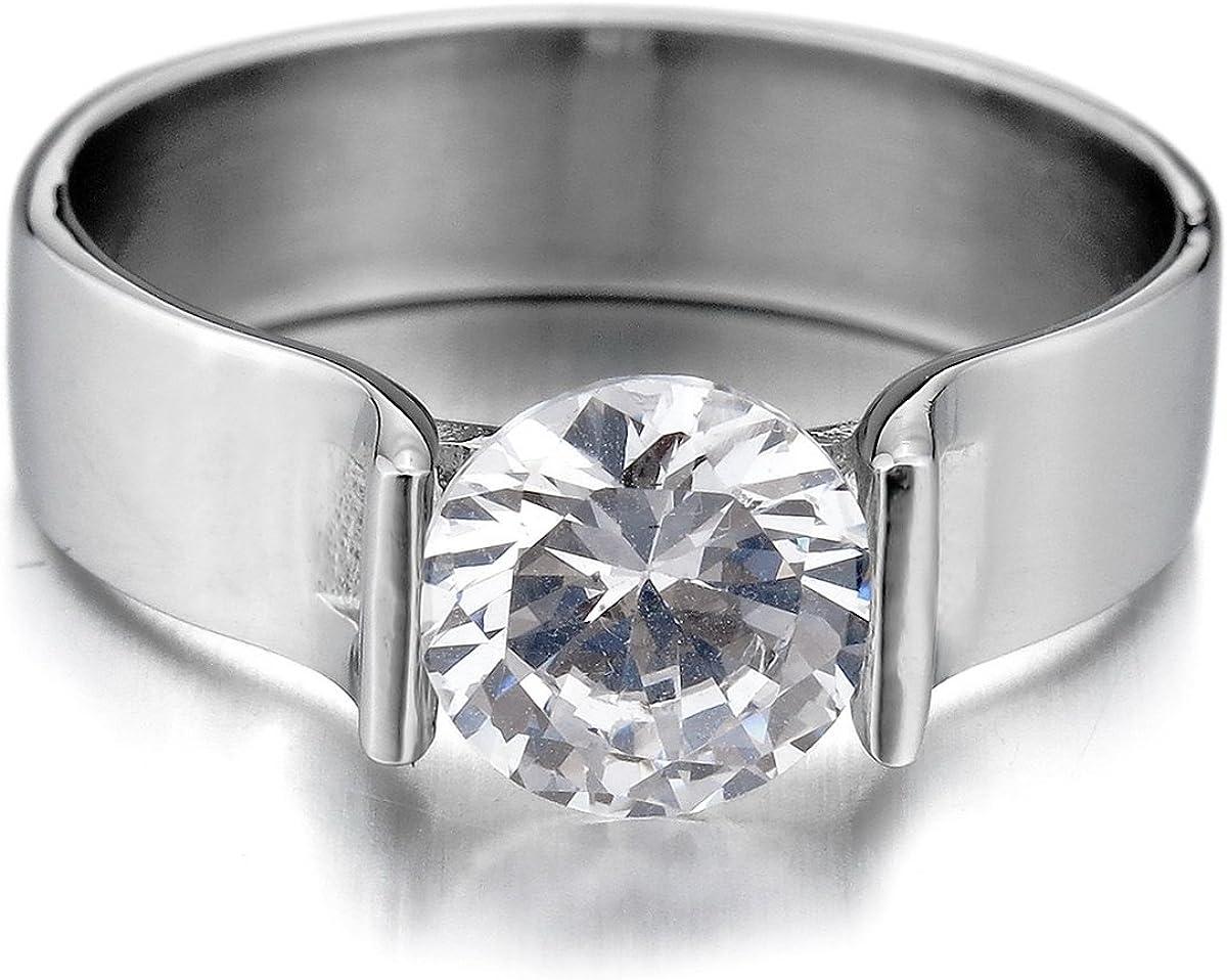 MunkiMix Argent Fin 925//1000 Bague Anneau Bague Zircon CZ Ton dargent Couronne Valentin Amour Couple Amour Amoureux Mariage Promesse Femme