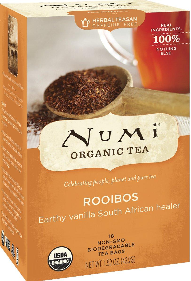 Numi Organic Tea Rooibos, Herbal Teasan in Teabags, 18-Count Box (Pack of 6) by Numi Organic Tea