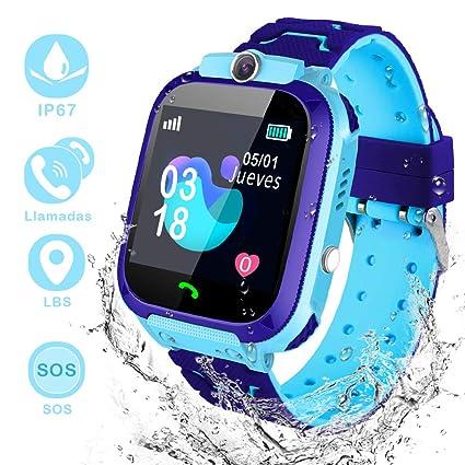 YIYOU Smartwatch Niños, Reloj Inteligente para Niños Impermeable ip67 con LBS, Hacer Llamadas, Chat de Voz, SOS, Cámara, Juegos, Mejor Regalo para ...