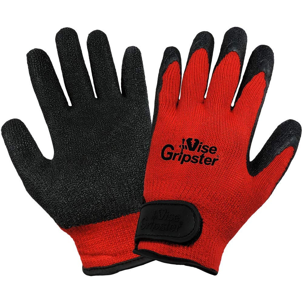 Global Glove 300RV Vise Gripster Rubber Glove, Work, Large, Red/Black (Case of 72) by Global Glove  B00AIXTAEG