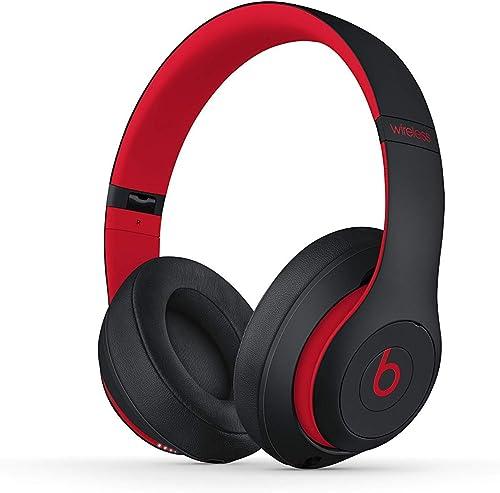 Beats Studio3 Wireless Headphones – Decade Collection, Defiant Black-Red Renewed