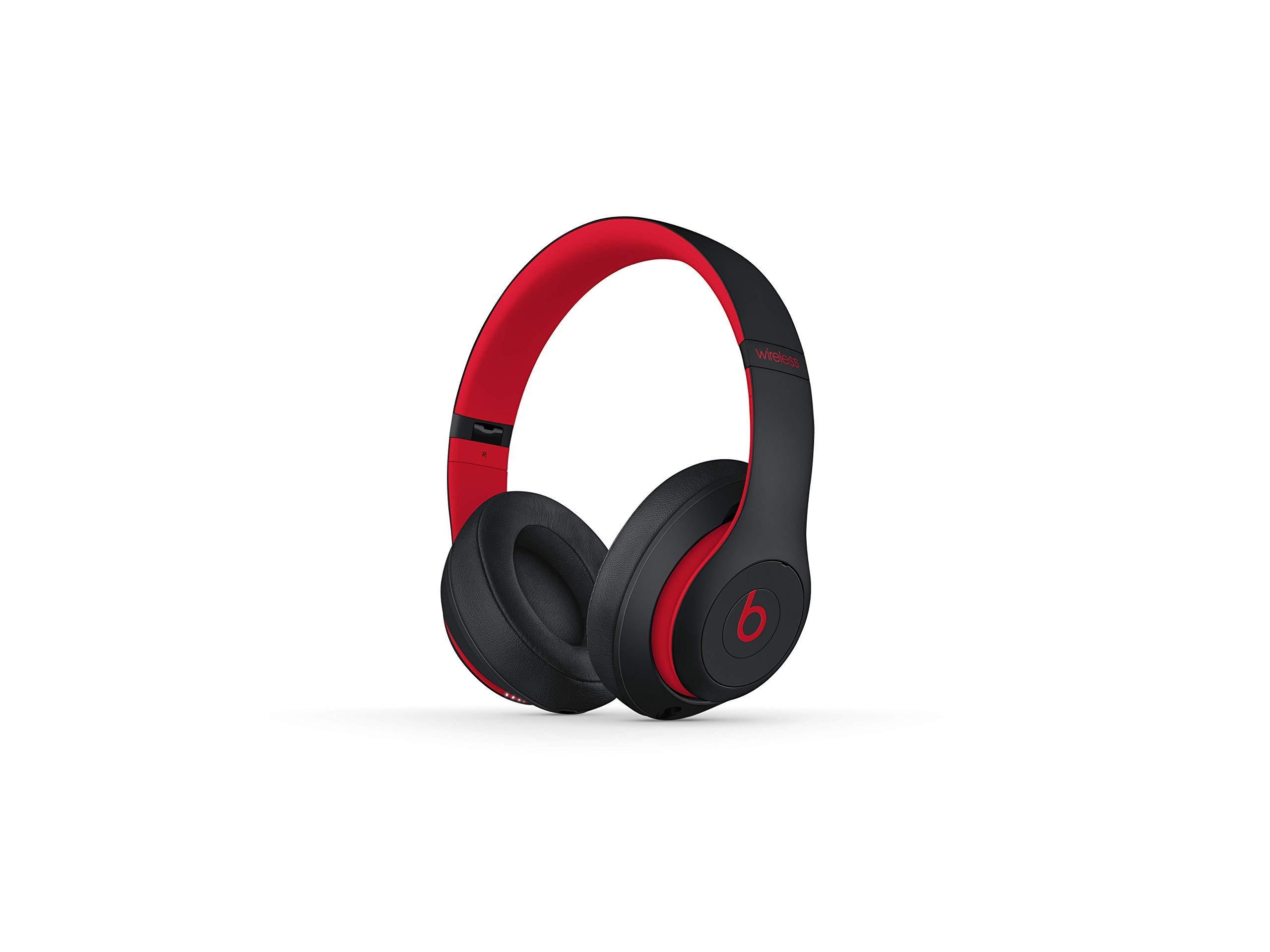 Beats Studio3 Wireless Headphones - Decade Collection, Defiant Black-Red (Renewed) by Beats