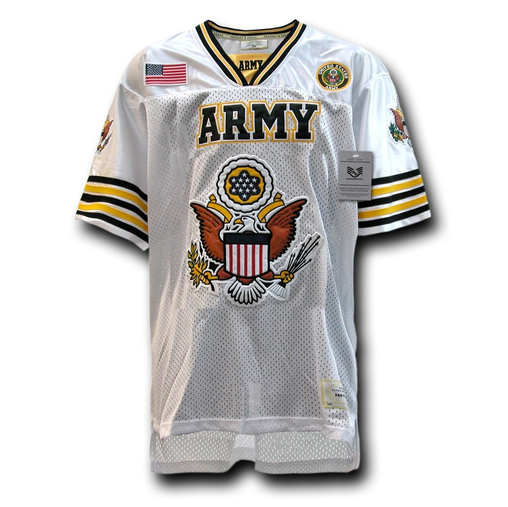 5d391519c Amazon.com   Rapiddominance Army Eagle Football Jersey