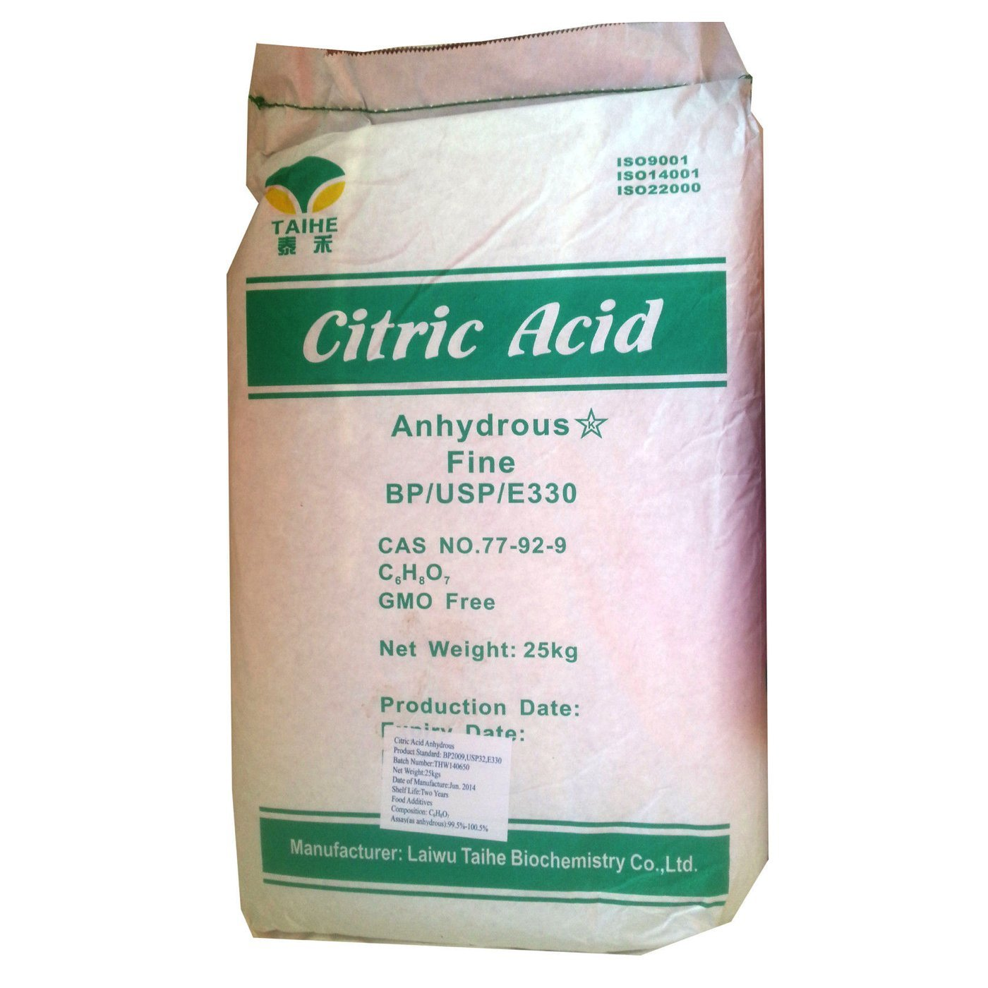 CITRIC ACID | 25KG BAG | 100% Anhydrous | Fine | GMO Free | BP/FCC Food Grade