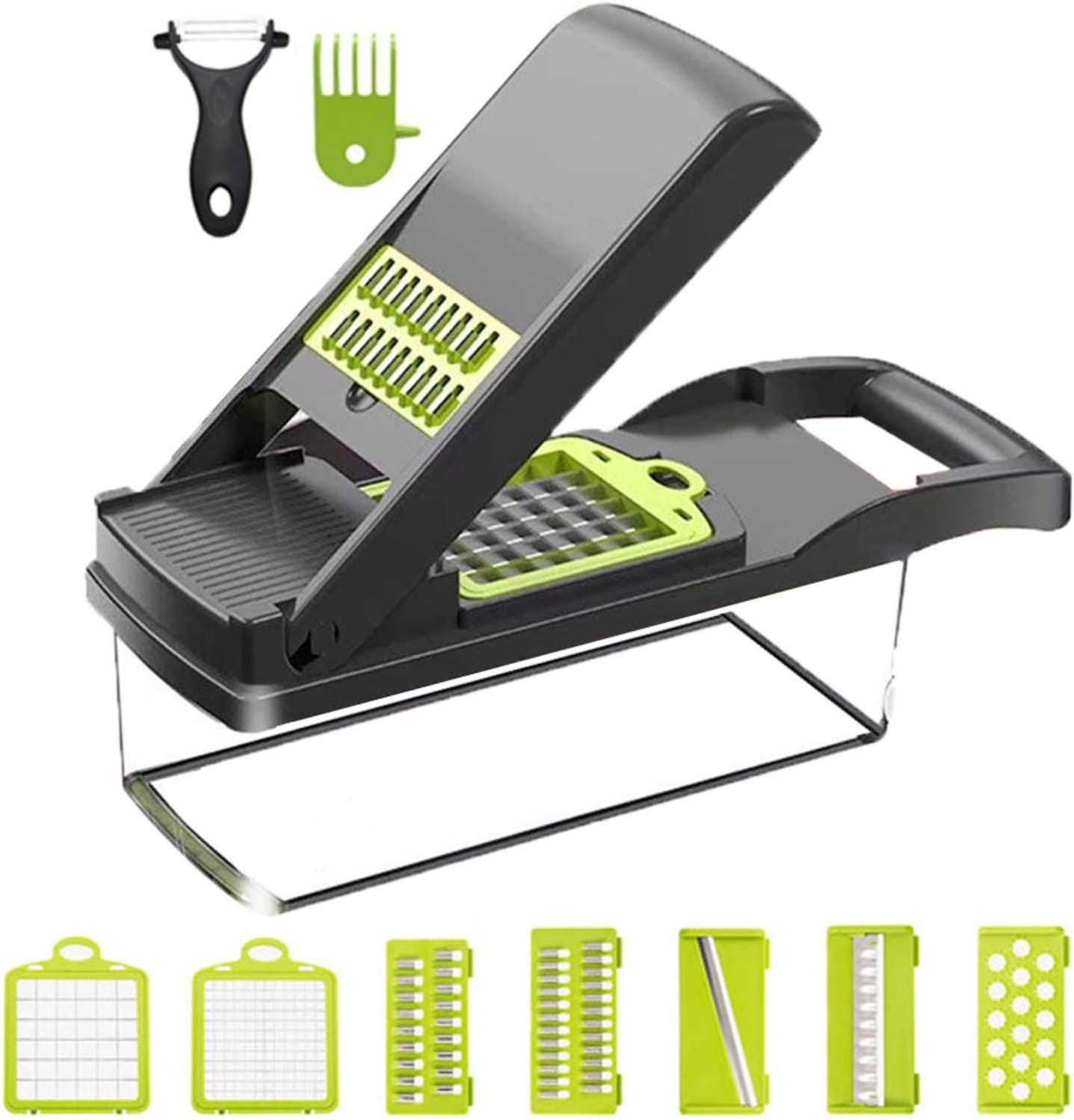Mevis Line Vegetable Chopper and Mandoline Slicer - easiest way to prep your food. Perfect as Onion Chopper or Potato Cutter