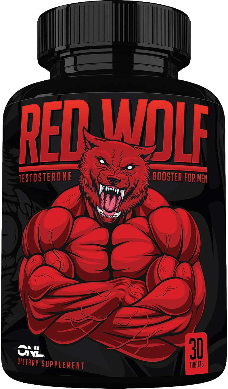 Red Wolf Testosterone Booster for Men - Enlargement Supplement - Ultimate Mens High Potency Endurance, Drive, and Strength Booster - Osyris Nutrition Lab - 1 Month Supply - Made in USA: Health & Personal Care
