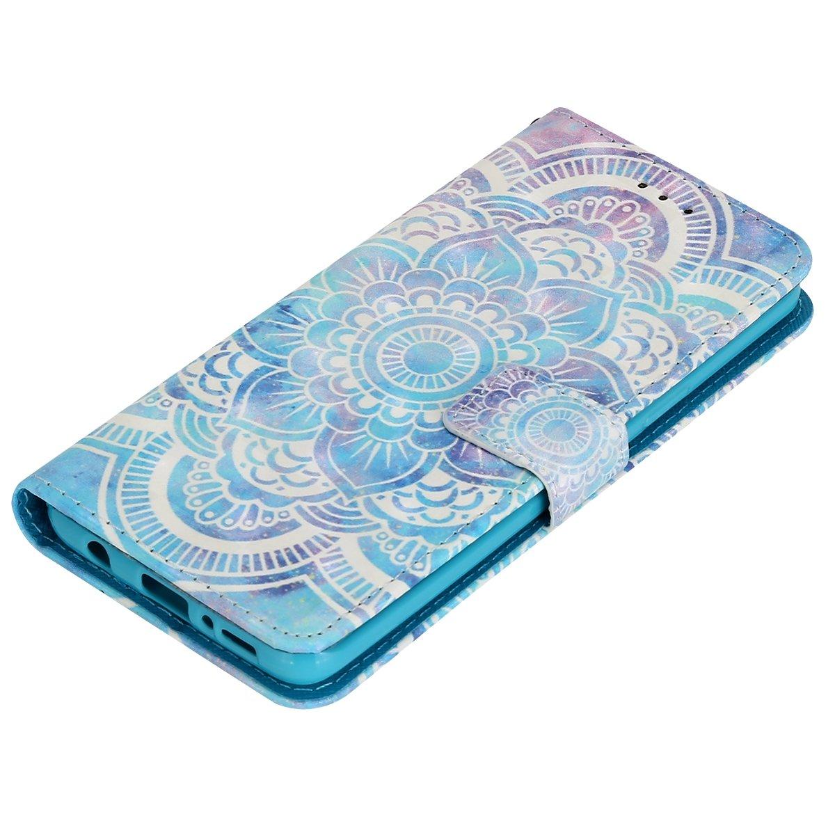 Effetto 3D Portafoglio Pelle Protettiva Cover Pieghevole Flip Libro Custodia con Porta Carte,Chiusura Magnetica,Funzione Stand,Acchiappasogni Surakey Cover Compatible con Samsung Galaxy S9 Plus