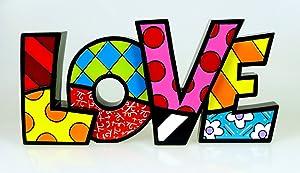 Romero Britto Love Word Decor by Giftcraft