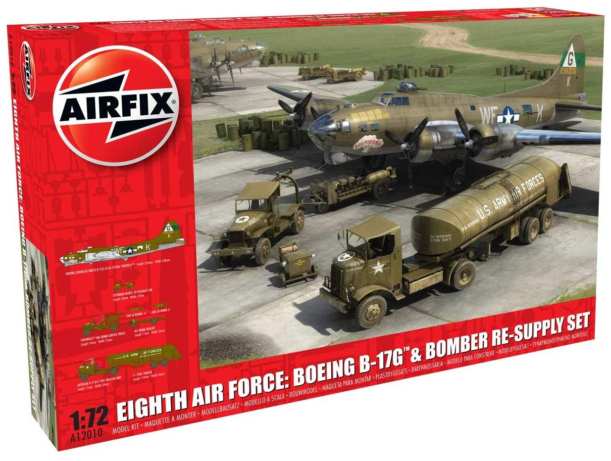 Amazon.com: Airfix Eighth Air Force: Boeing B-17G & Bomber ...