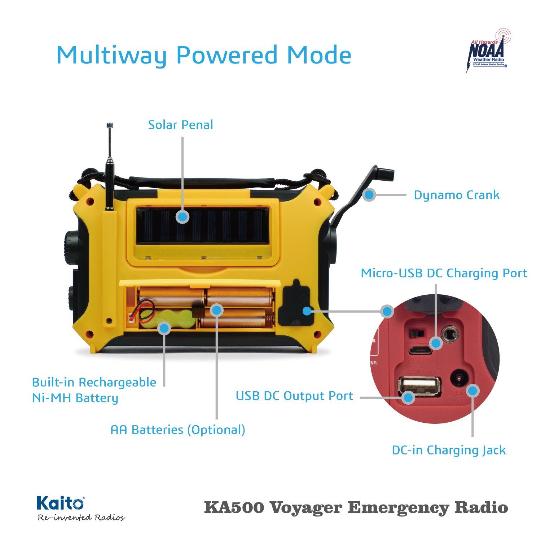 Kaito KA500 Voyager Solar Hand Crank Radio