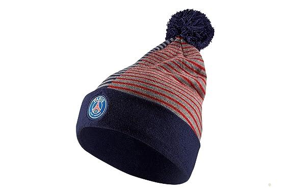 7fbdff6f Amazon.com: Nike Paris Saint Germain PSG Stripe Knit Beanie ...
