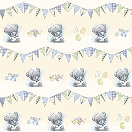 Blue Nose Friends Me To You Luxury Blue Giftwrap Tatty Teddy Bear Wrapping Paper Toys Games