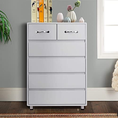 Binrrio 6 Drawers Dresser,Modern Drawer Chest,Wood Chest of Drawers Storage Cabinet,Bedroom Storage Drawer Organizer