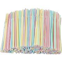 Xyedyaup 5000 stuks rietjes dikke kinderrietjes glas kleurrijke drinkrietjes cocktailparaplu's herbruikbaar stro…