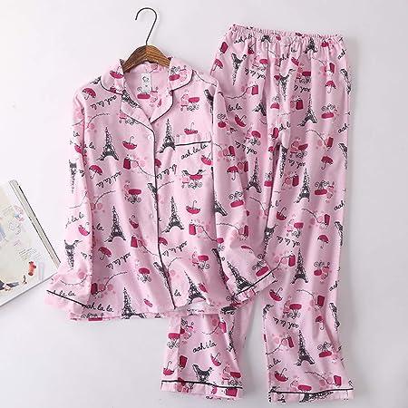 Cálidos Pijamas para Mujer,Ropa De Dormir De Solapa De ...