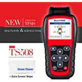 Autel MaxiTPMS TS508 with Free Screen Wiper Relearn Tool TPMS Programming TPMS Reset Sensor Activation Key Fob Testing Relearn by OBD Tire Type/Pressure Selection Advanced TS408