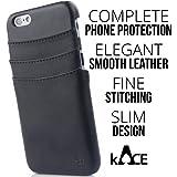 Iphone 6 / 6s Wallet Card Holder Black Case By Kace
