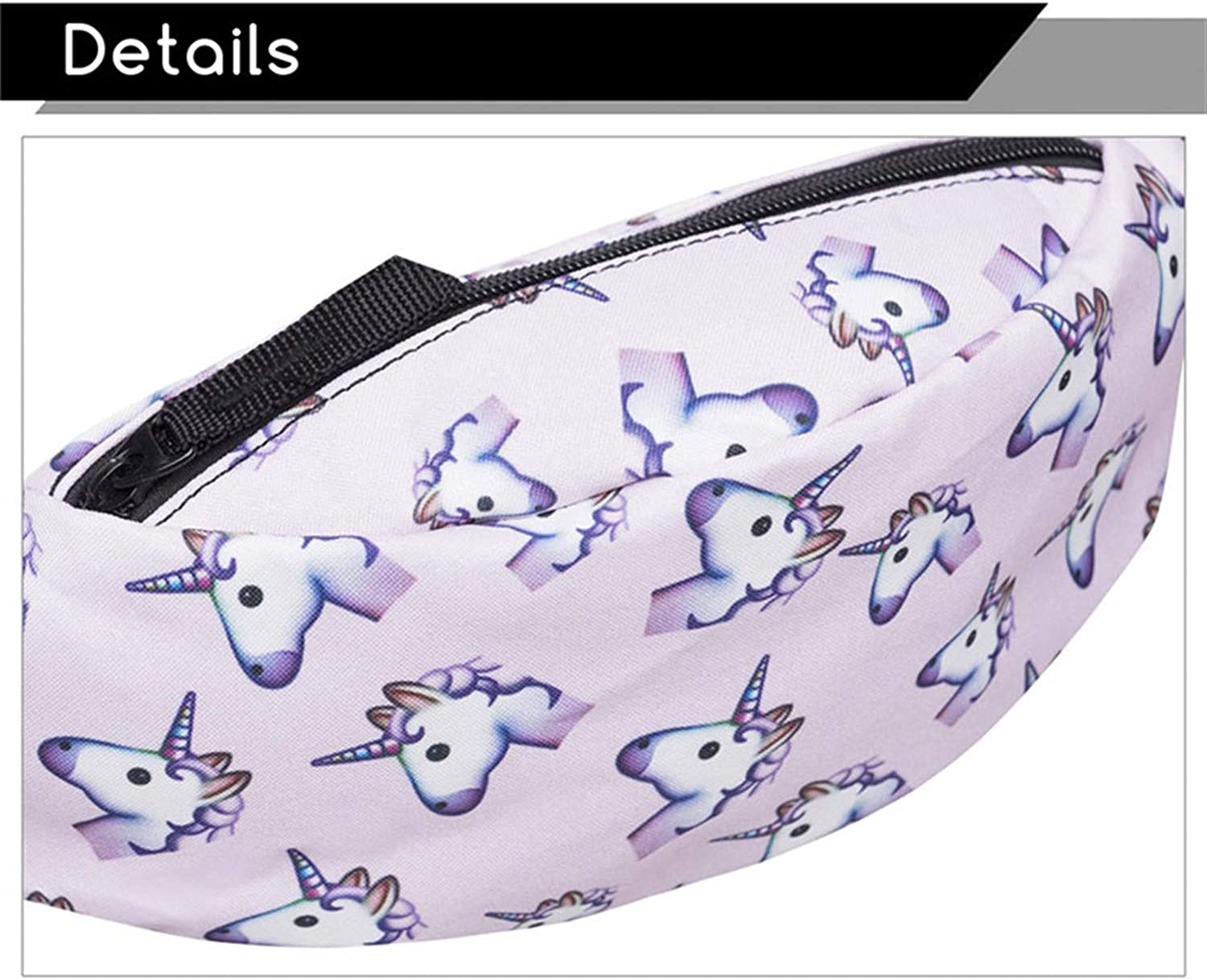 New Colorful Waist Bag For Men Packs Style Belt Bag Unicorn Women Waist Pack