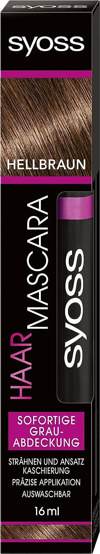syoss pelo Mascara coloration marrón claro, 16ml Syoss Haar Mascara SA004