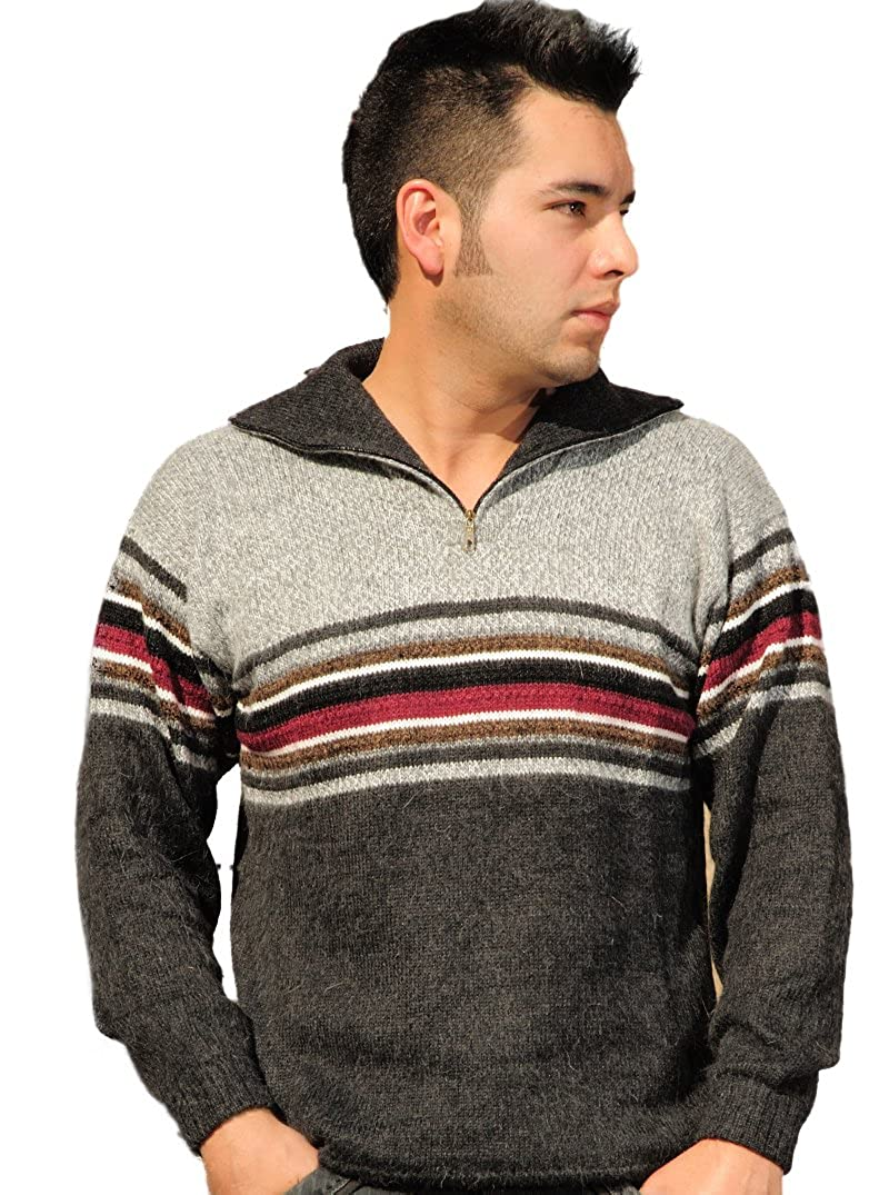 Gamboa - Alpaca Turtleneck Sweater - Striped Design 133941