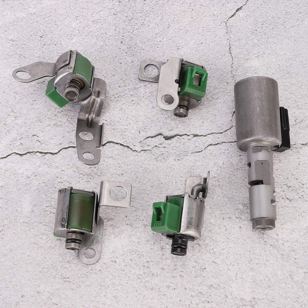 Aramox Transmission Solenoid 5PCS Transmission Solenoid Shift Kit Replacement Fits for Ford Fiesta 1.6L for Toyota Yaris AW8040LE