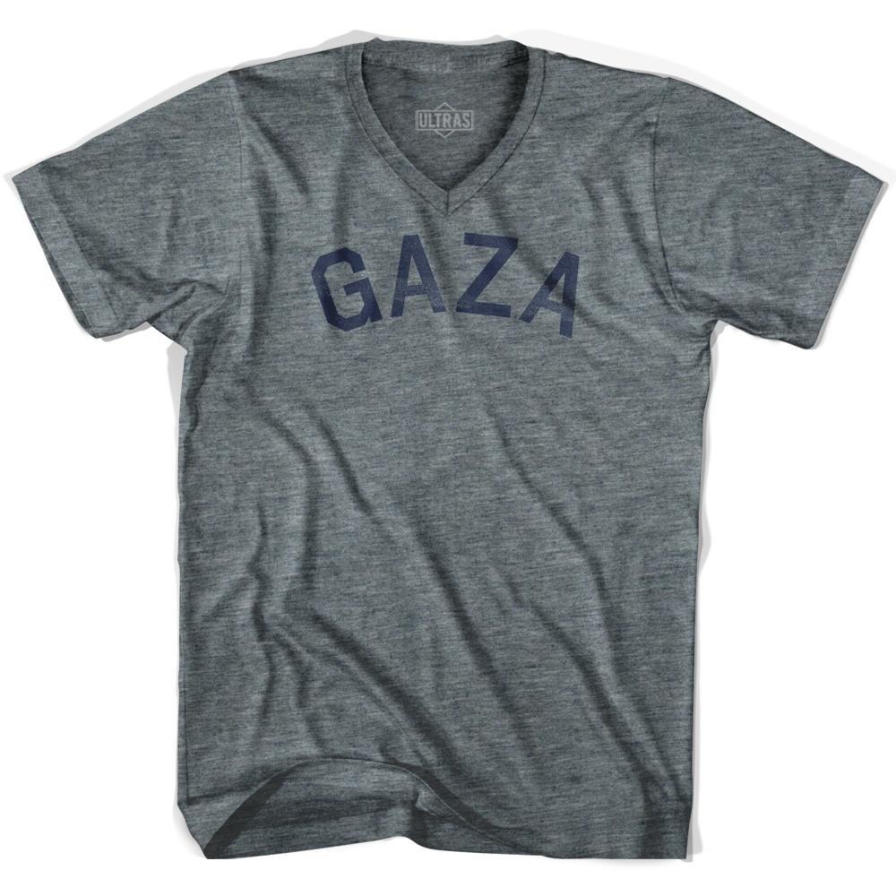 Gaza Vintage City Adult Tri-Blend V-neck T-shirt