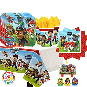 Amazon.com: Paw Patrol Birthday Party Pack for 16 with ...