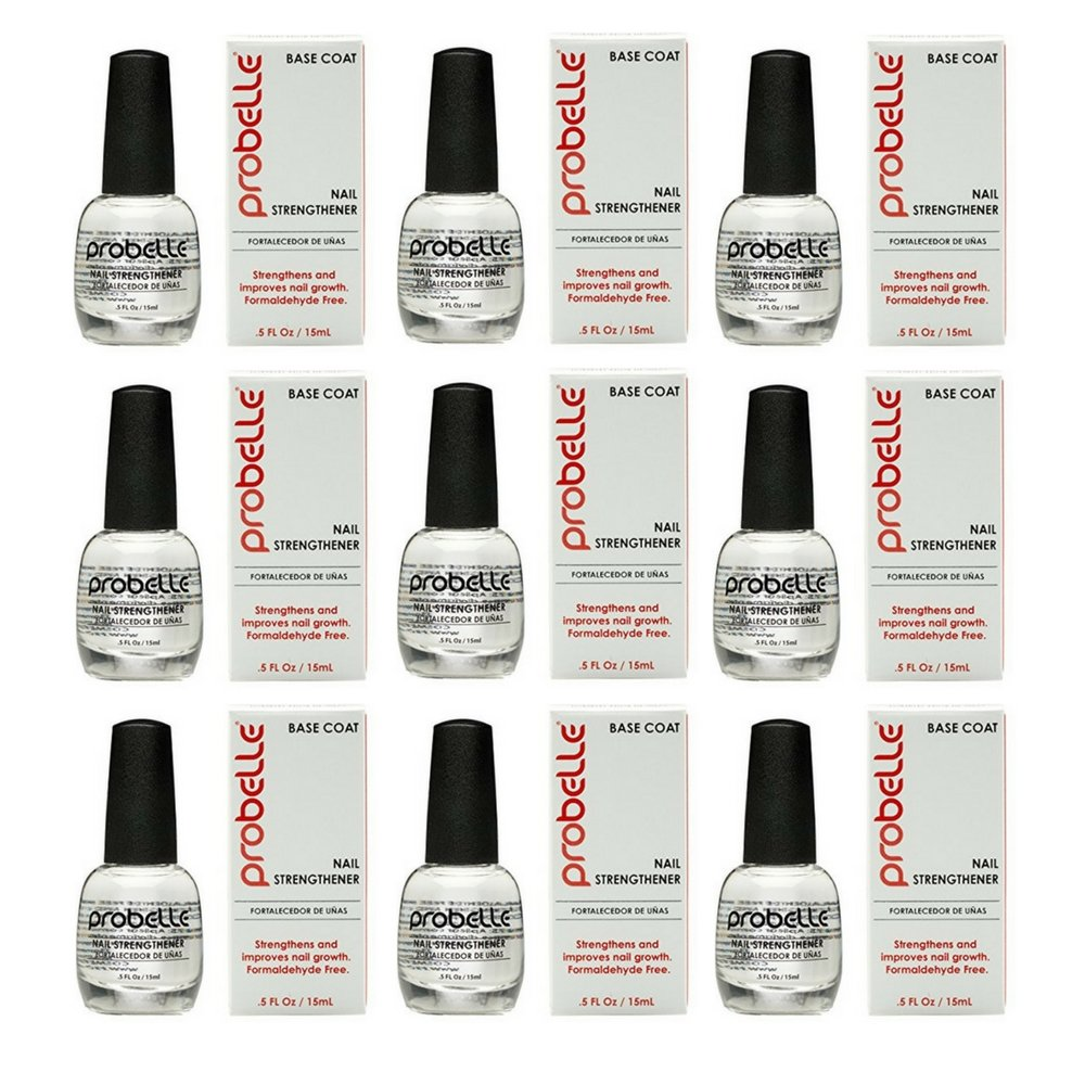 Probelle Nail Strengthener Formaldehyde Free, Fast Dry and High Gloss, 0.5 Fl Oz (9 pack) by Probelle (Image #1)
