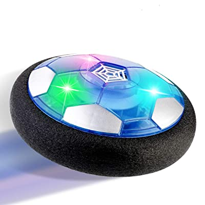 Hover Soccer Ball Toys for Kids with Colorful LED Lights and Protective Foam Bumper Indoor Playing Football Toys Rechargeable: Kitchen & Dining