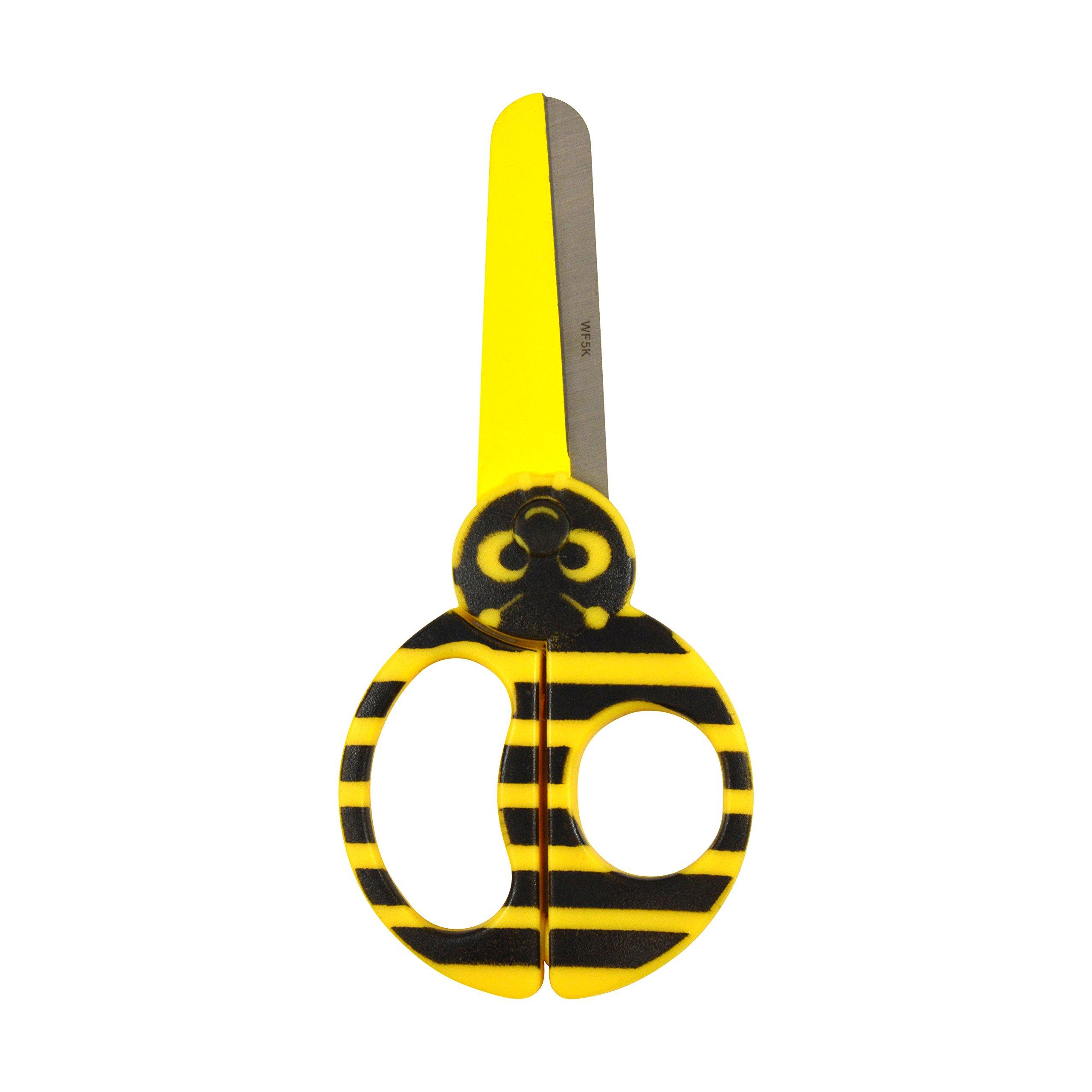 Westcott Kids Critters Scissors, Bumble Bee, Case of 72 (500-16208) - 5''