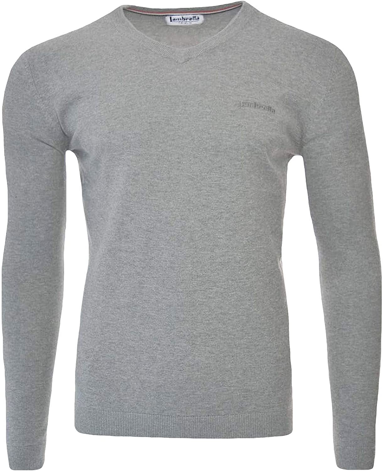 Lambretta Mens V Neck Casual Cotton Knit Knitted Jumper Top