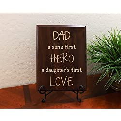 Carved wood sign with Quote