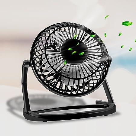 """4/"""" pouces USB Portable Ventilateur Mini Noir Refroidissement Bureau Fans pour maison bureau PC portable"""