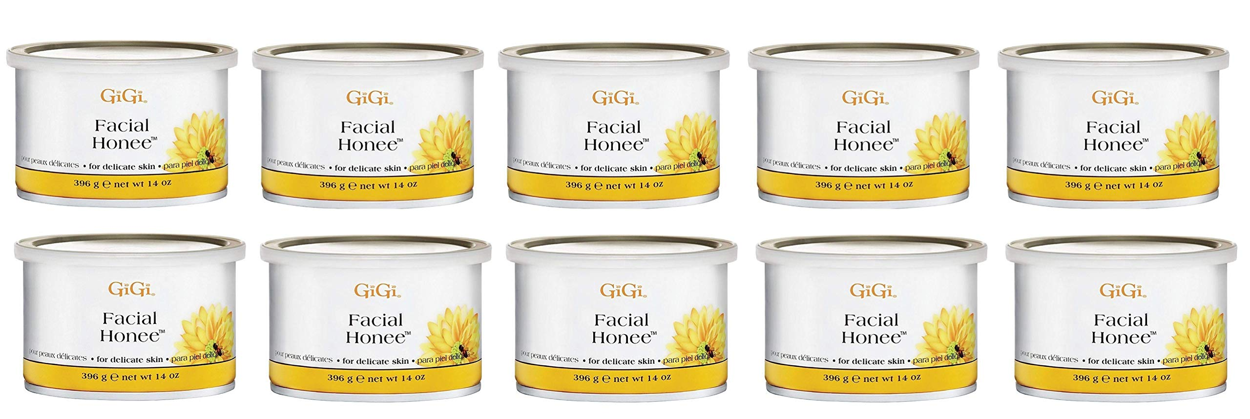 GiGi Facial Honee Wax 14 oz (Pack of 10) by GiGi