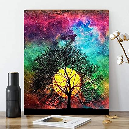 DIY Painting By Numbers Oil Kit Paint Number Diy Decor Canvas Home Acrylic Art