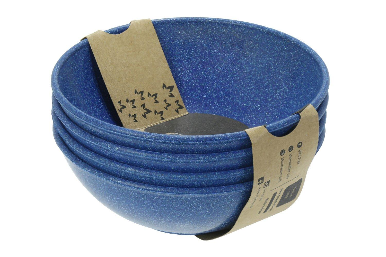 EVO Sustainable Goods 935 Dinnerware Bowl Set, 24 oz, Blue