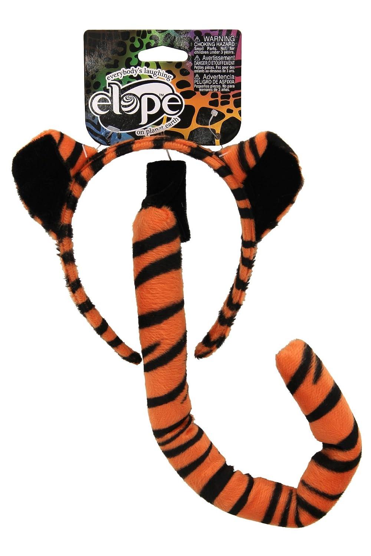 48db46c8cc3 Amazon.com  Elope Tiger Costume Ears Headband and Tail Accessory Kit   Clothing