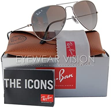 9ea3ba0c76c58 Amazon.com  Ray-Ban RB8041 Titanium Aviator Polarized Sunglasses Titanium Grey  Gradient (086 M3) RB 8041 58mm  Clothing