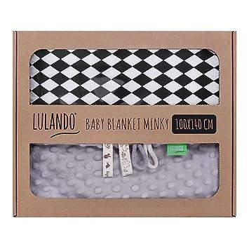LULANDO Babydecke Kuscheldecke Krabbeldecke Baumwolle 100x140 cm Mint Feathers