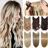 Extensions de Chevaux avec Attache Cachée dans les Cheveux Lisses Frisés Ondulés Postiche Couleur Blonde Brune Noire pour Femme