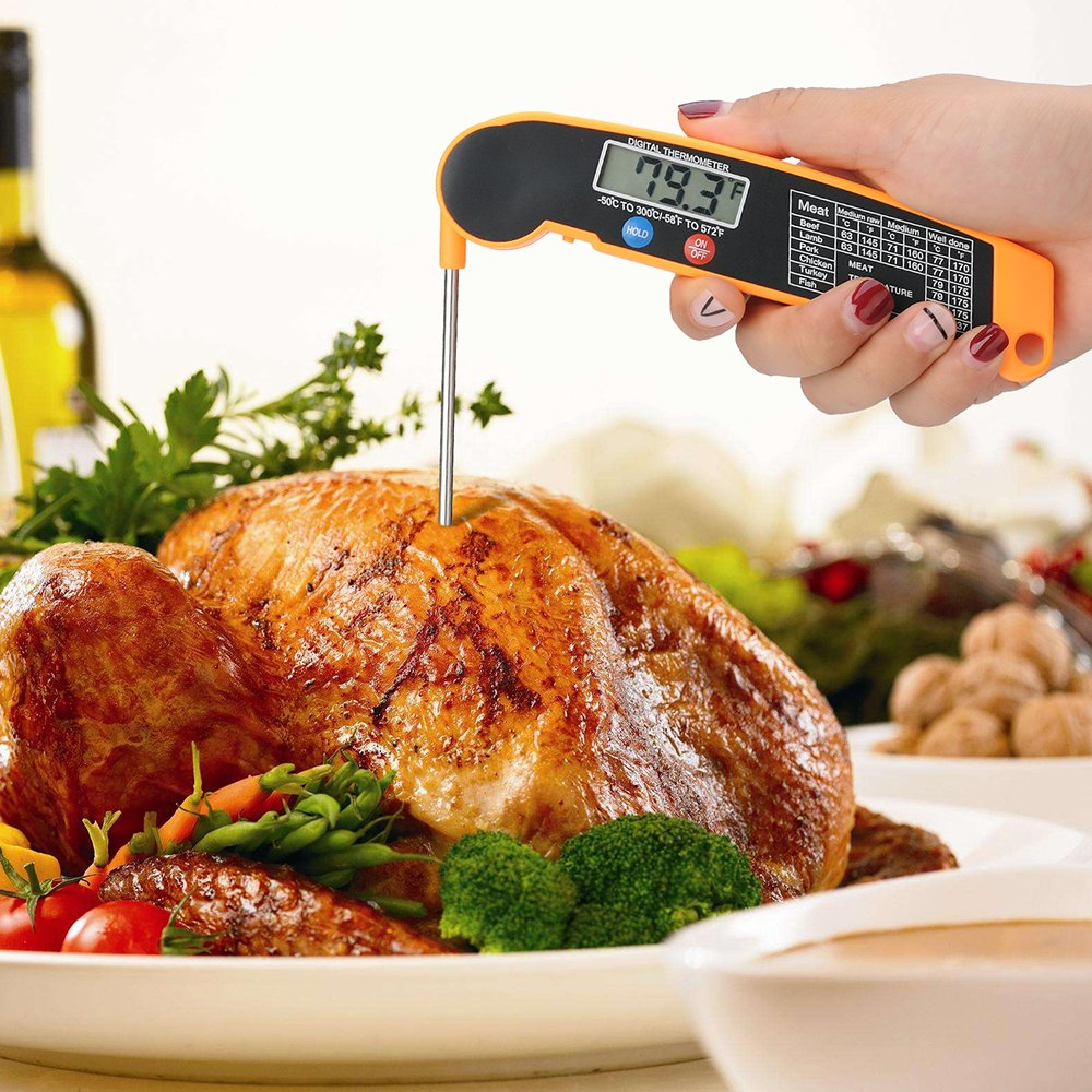 Digital Candy Cooking Thermometer Wekine Fast Instant Read Meat food Thermometer for Kitchen BBQ Grill Smoker,Milk (orange) by Wekine (Image #4)