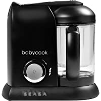 BEABA Babycook Solo 4 in 1 Steam Cooker & Blender and Dishwasher Safe, Cook at Home, 4.5 Cups, Black