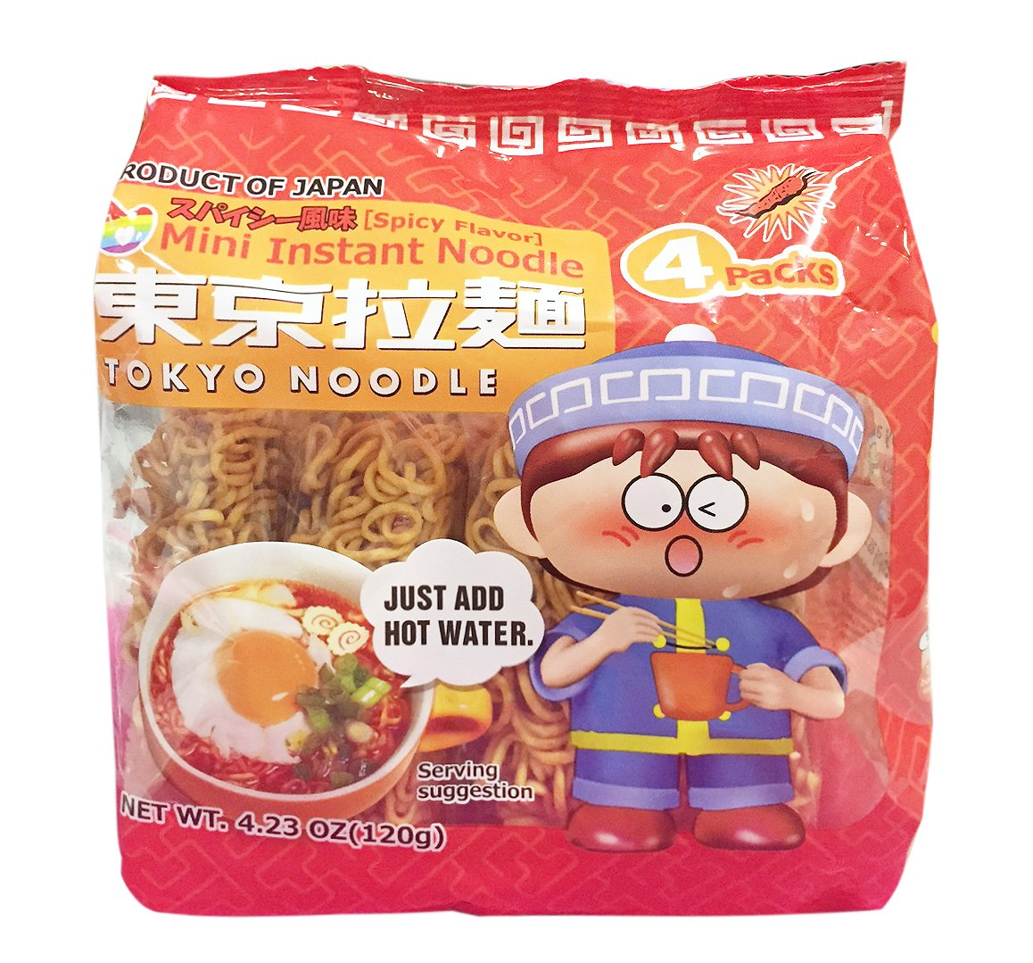 Mini Instant Tokyo Noodles Spicy Flavor 120g (Pack of 2)