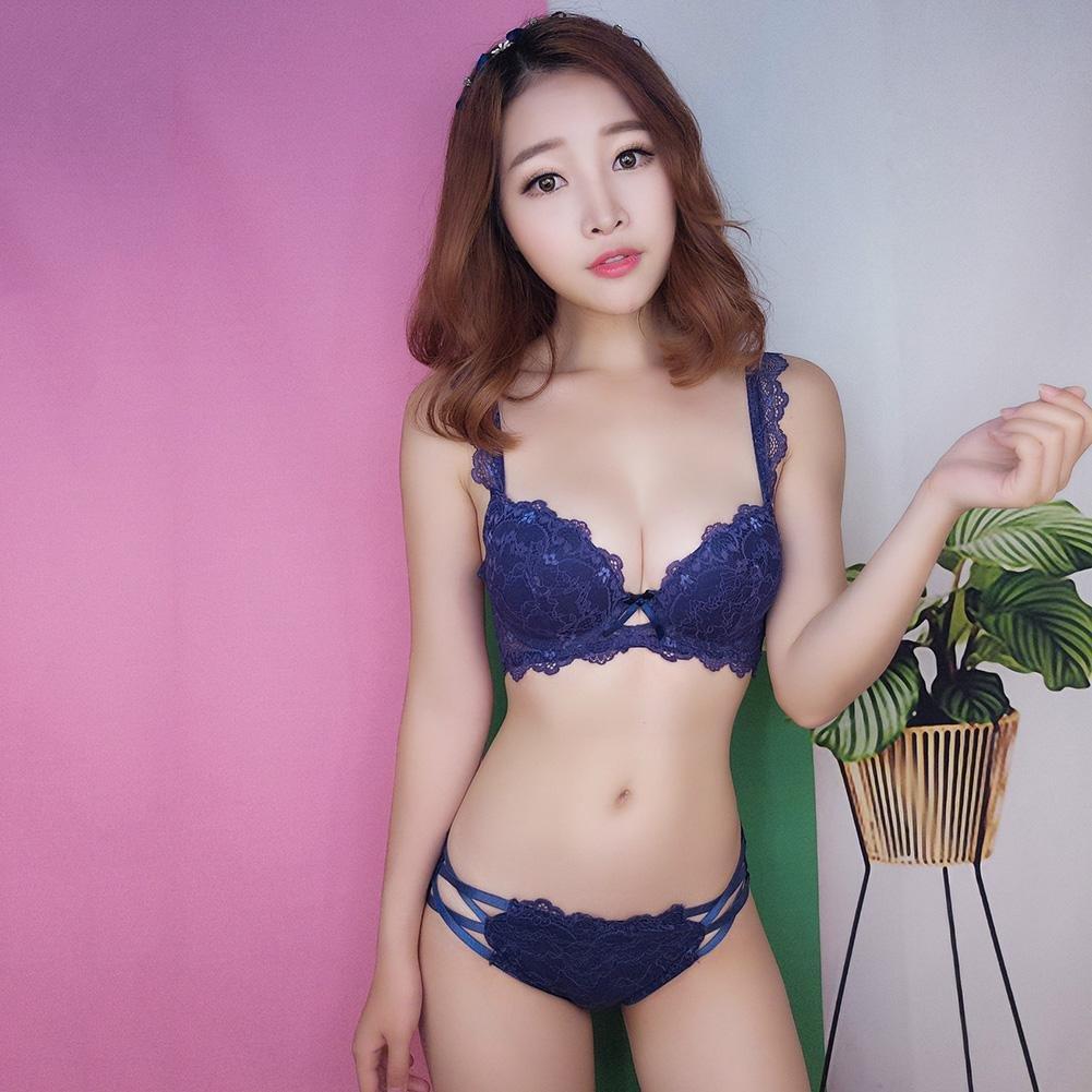 d72588022a24 Domybest Mujer Reunidos Sujetador de Encaje Ropa Interior Sexy Transpirable  Ajuste con Aros a Juego Ropa Interior Panty Set Azul Marino 75/34B:  Amazon.es: ...