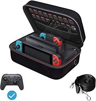 GeekShare Cute Carrying Case Slim Protective Travel Storage Case Pouch Fits Camera /& Photo Accessories with Removable Shoulder Strap