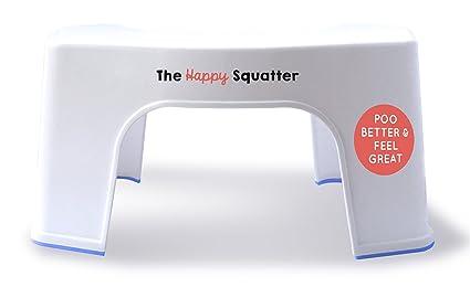 The happy squatter sgabello antibatterico e antiscivolo per wc e