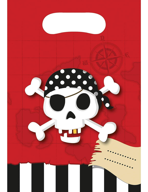 6 Bolsas de regalo Mapa del Tesoro Pirata: Amazon.es: Juguetes y juegos